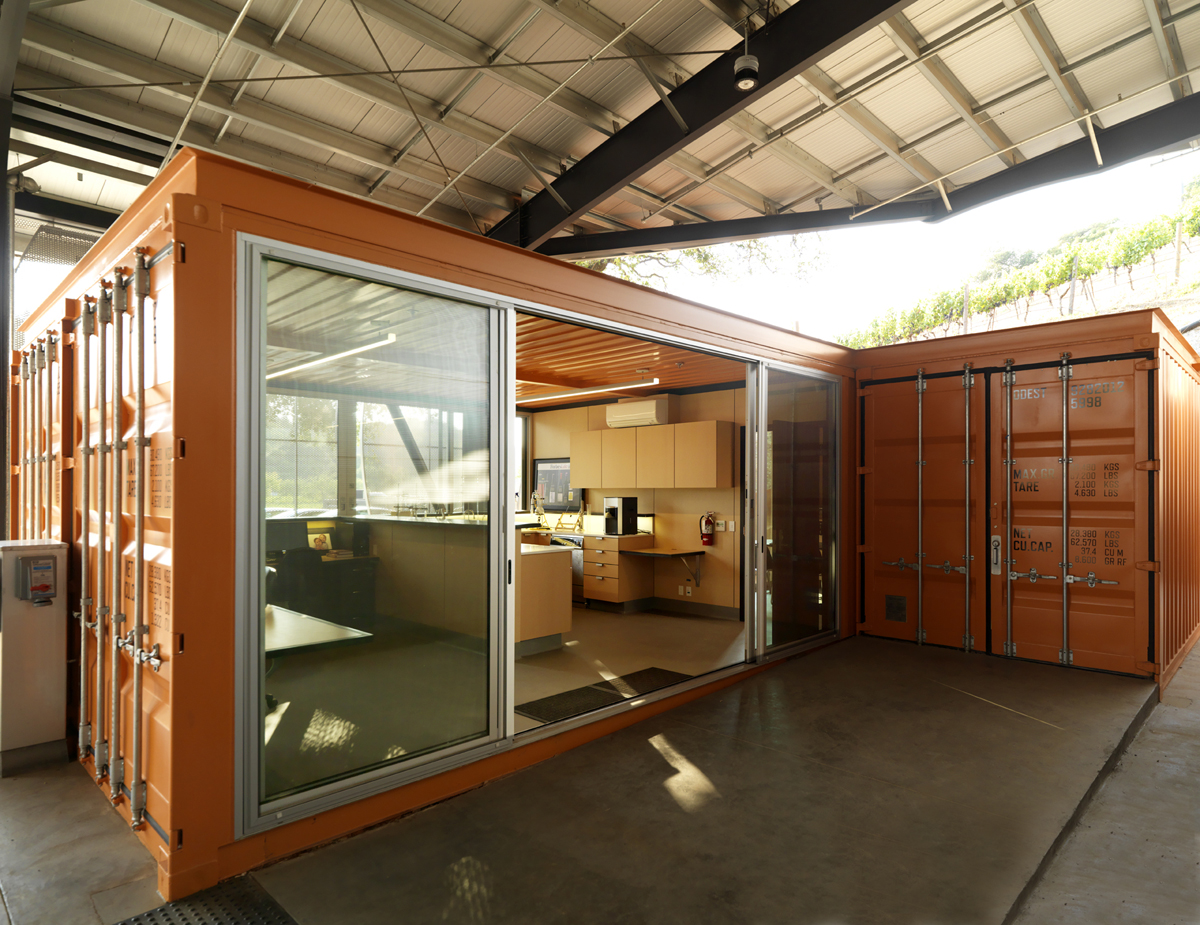 Office Made Out Of Repurposed Shipping Containers